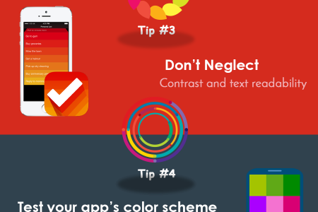 Tips for Mobile App Designers Infographic