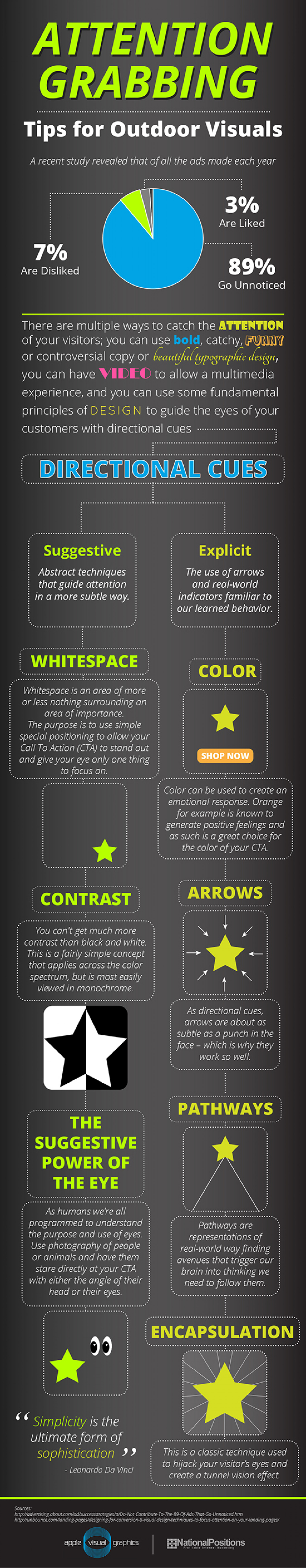 Tips for Outdoor Visuals Infographic