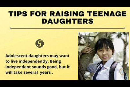 Tips For Raising Teenage Daughters Infographic