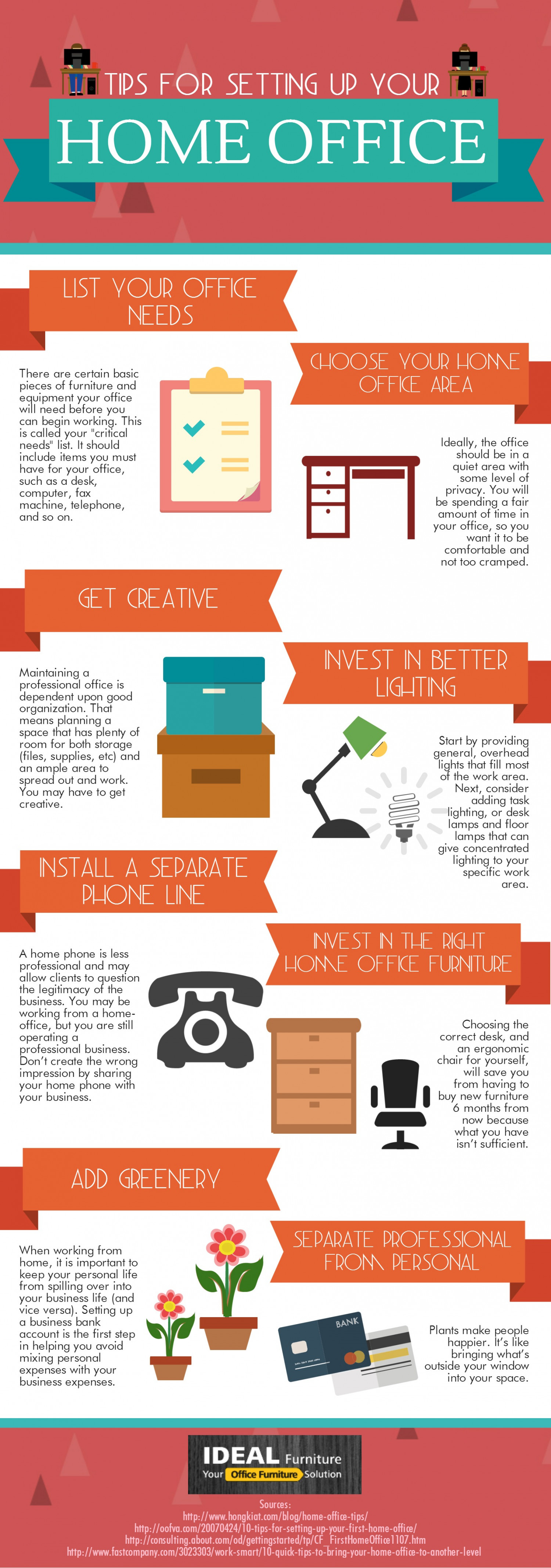 Tips For Setting Up Your Home Office Infographic