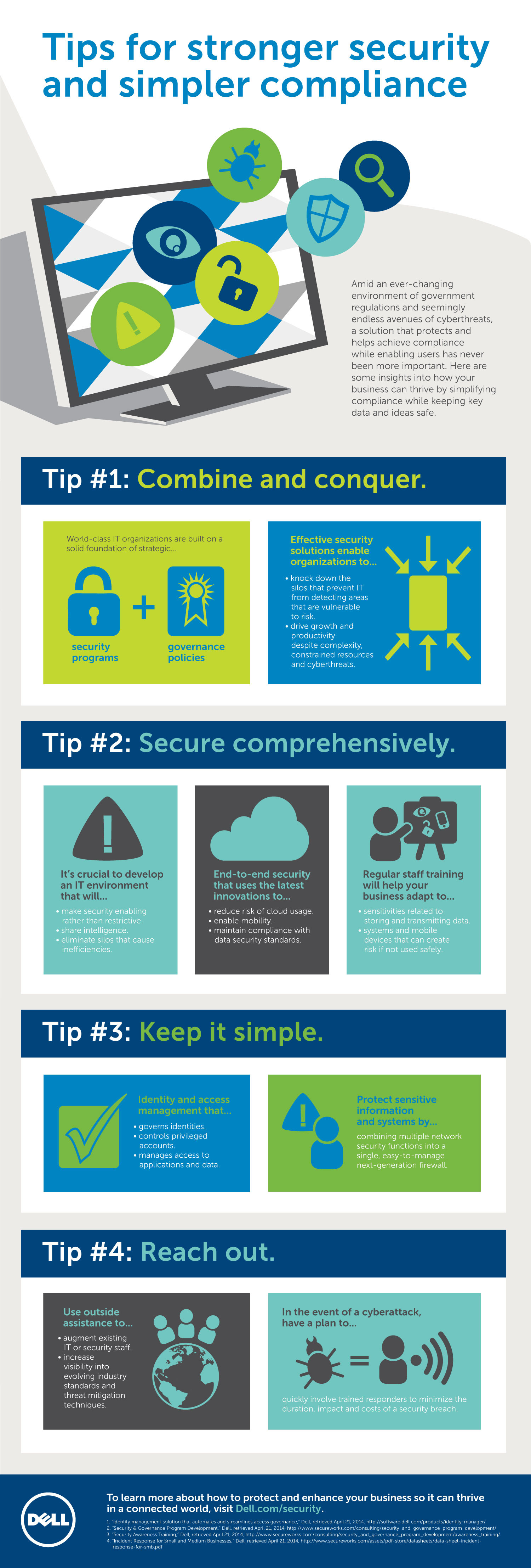 Tips for Stronger Security and Simpler Compliance Infographic