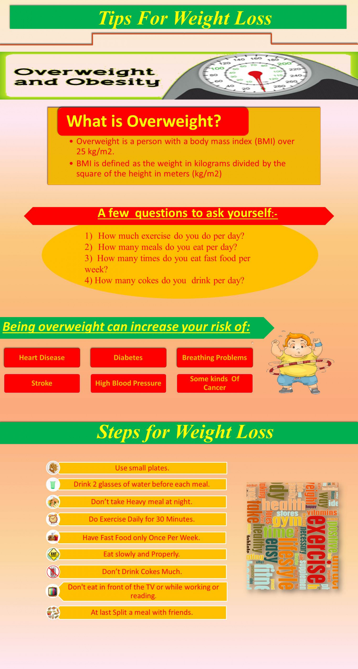 Tips for Weight Loss Infographic
