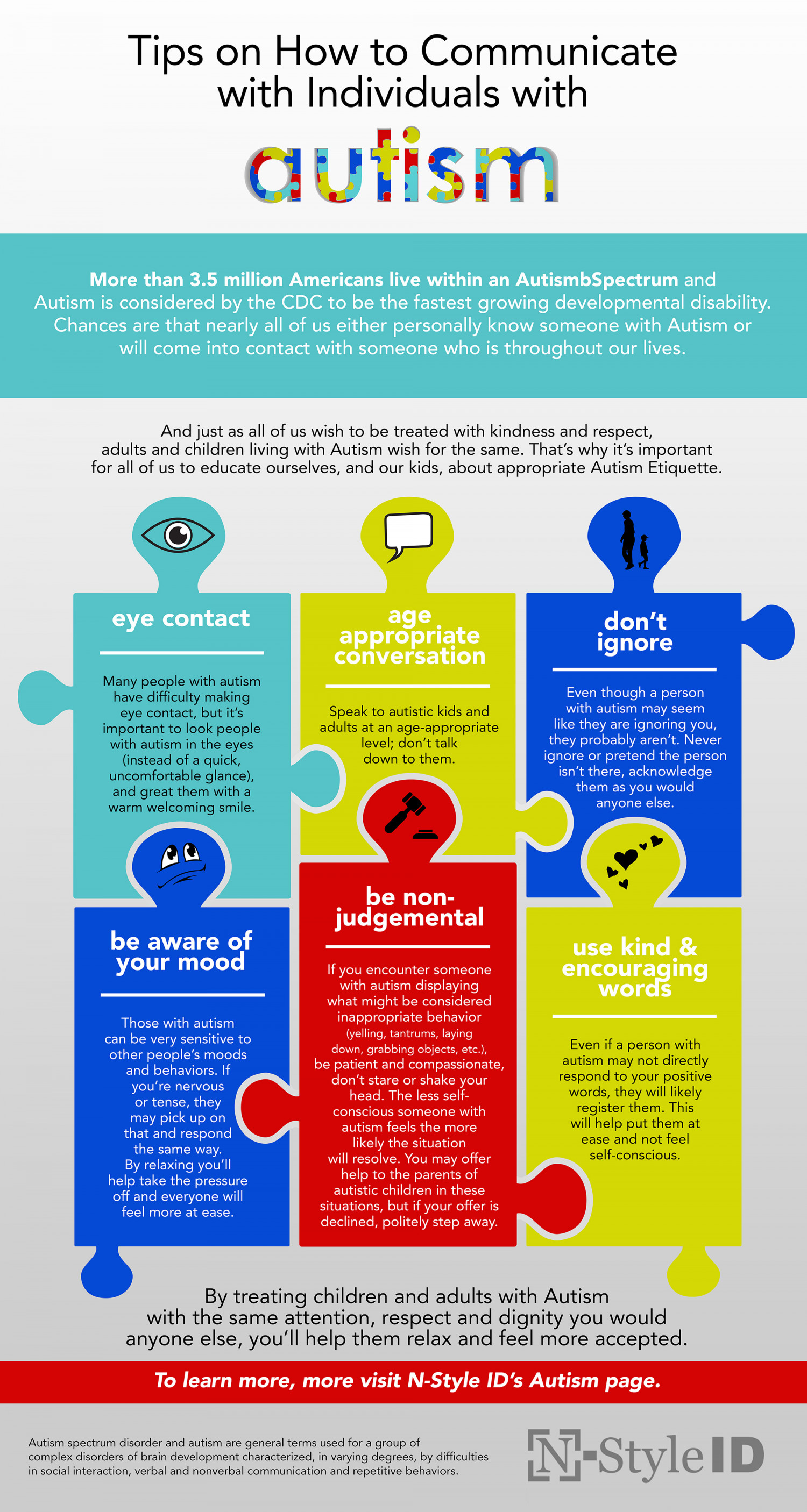 Tips on Communicating with Autistic Individuals Infographic