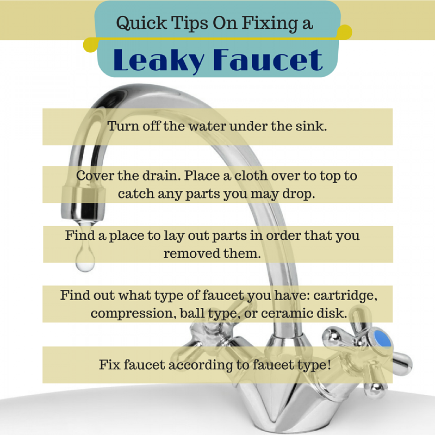 Tips to fix a leaky faucet