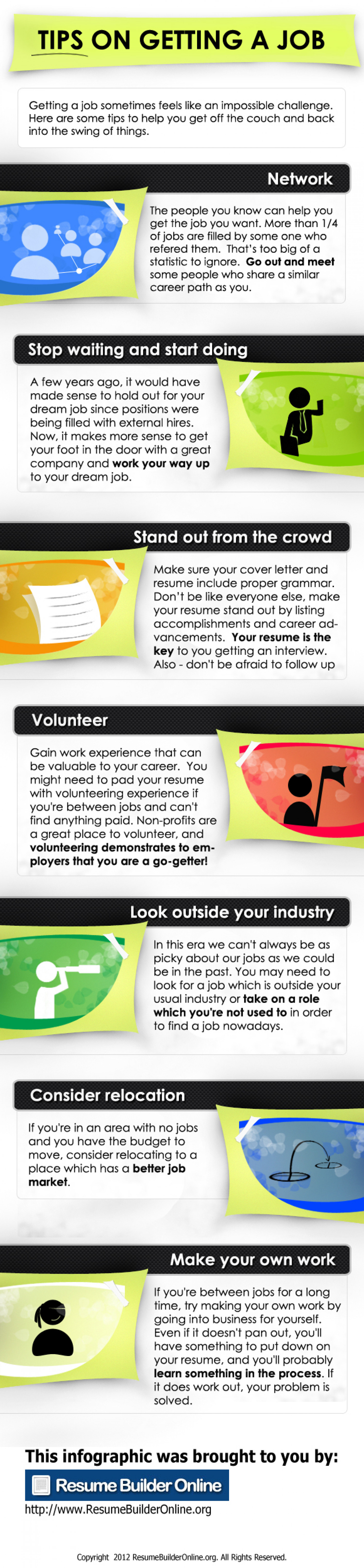 tips on getting a job ly tips on getting a job infographic
