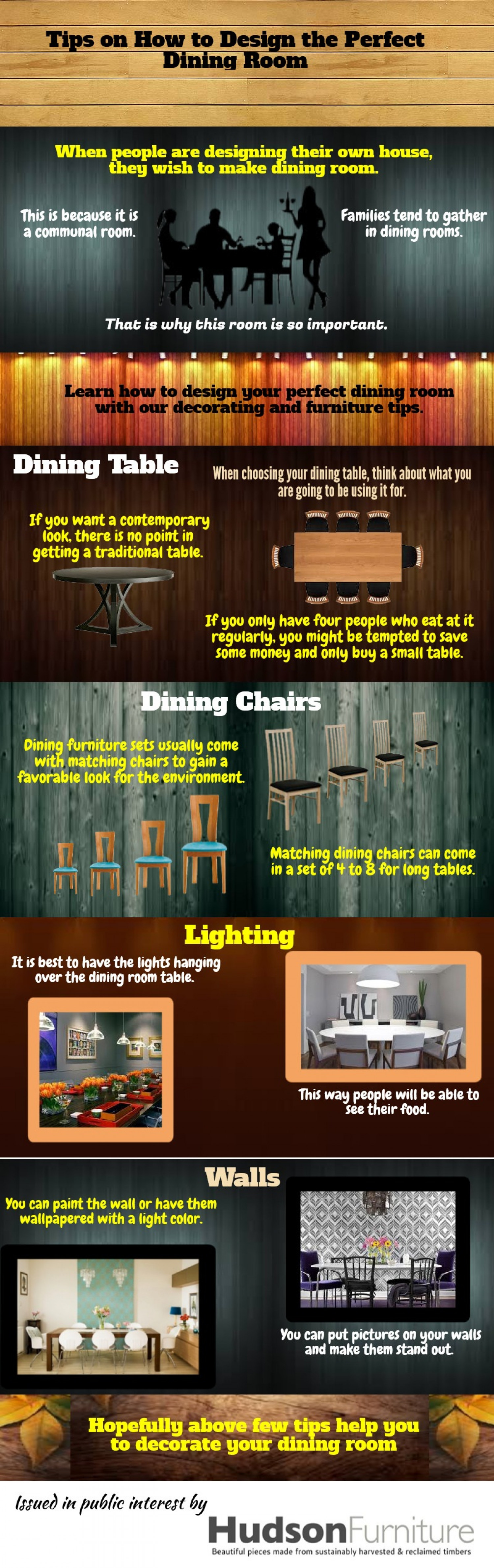 Tips on how to design the perfect dining room Infographic