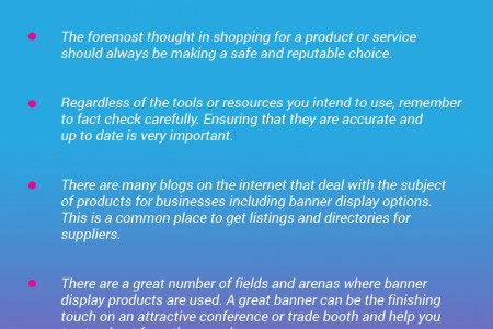 Tips on Shopping for a Banner Display Infographic