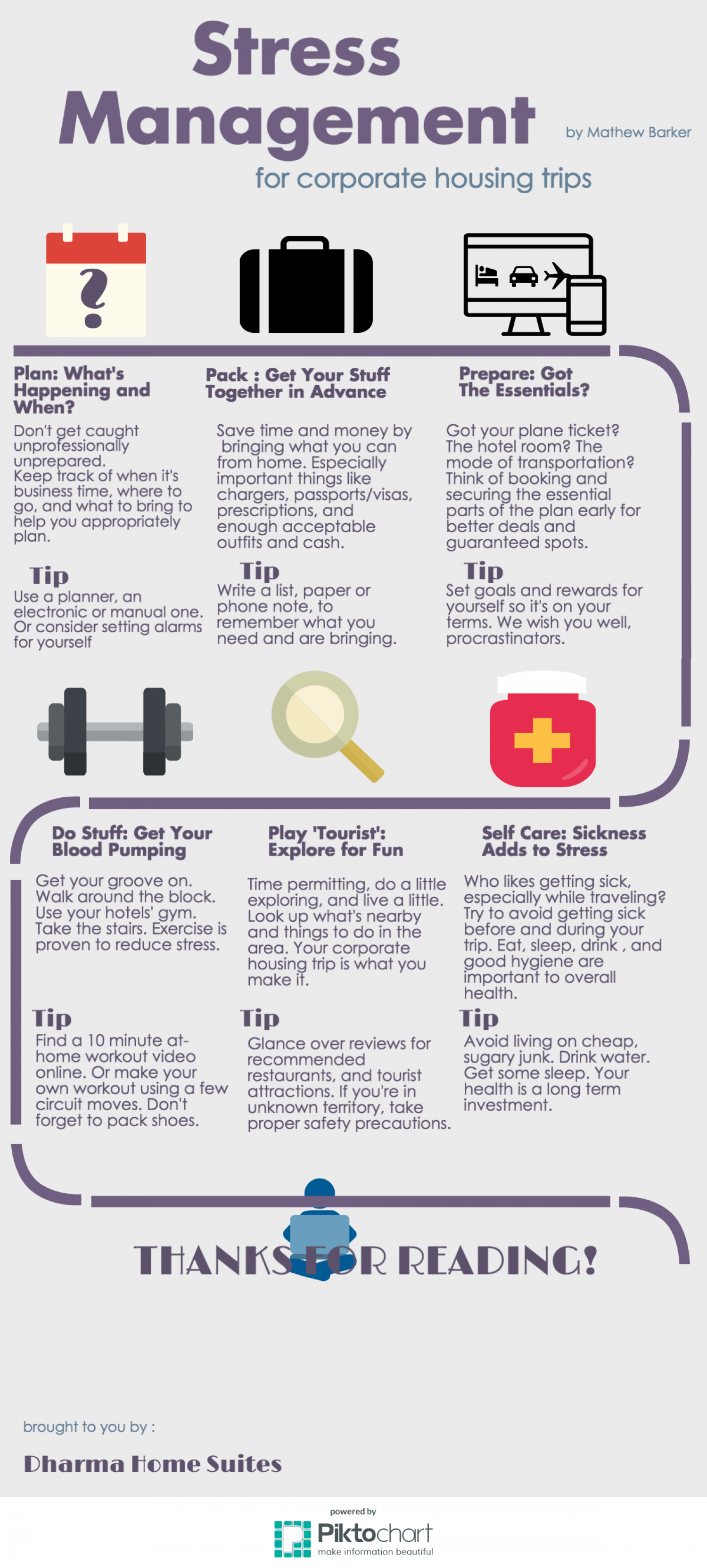 Tips Stress Management in Corporate Housing Infographic
