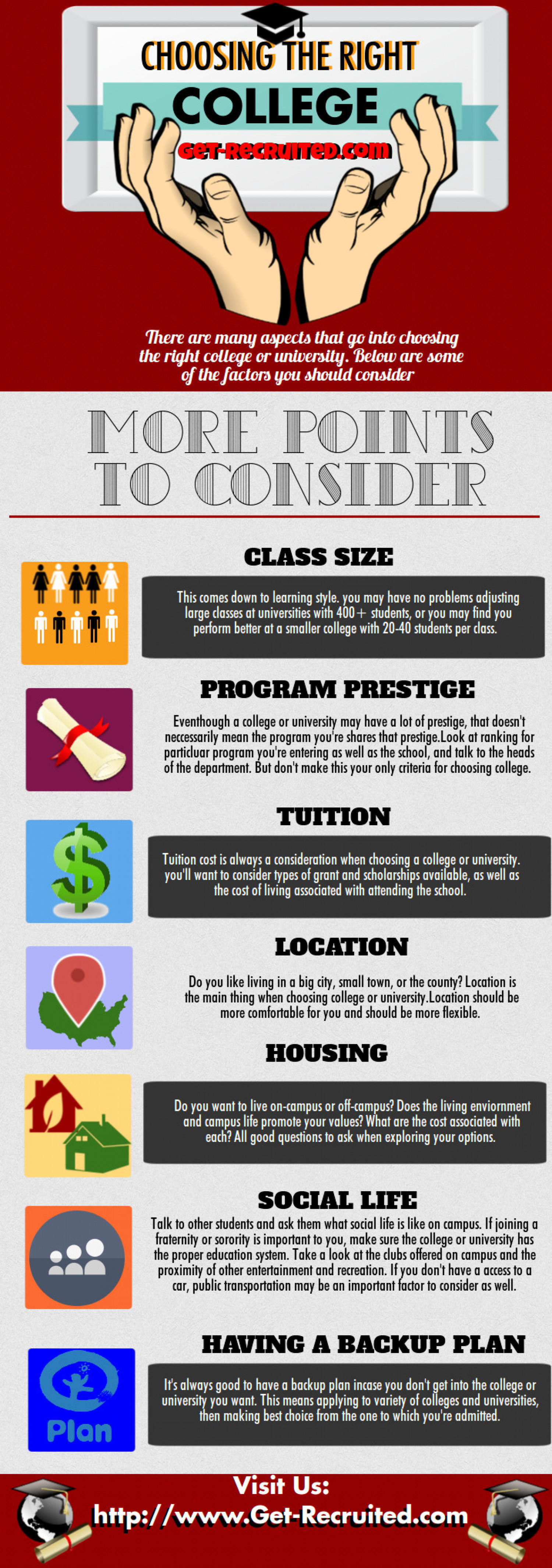 choosing the right college visual ly choosing the right college infographic