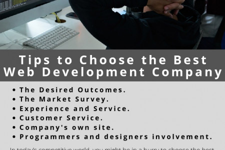 Tips to Choose the Best Web Development Company Infographic