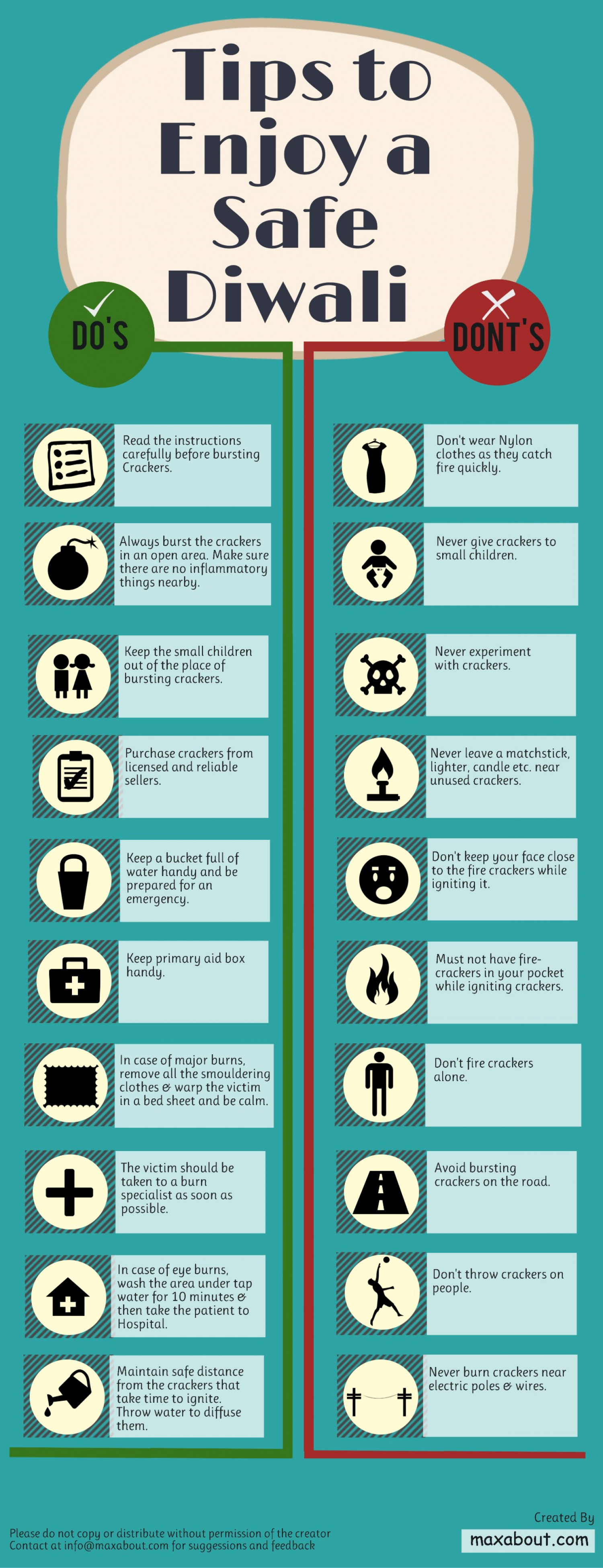 Tips to Enjoy a Safe Diwali – Do's and Don'ts Infographic
