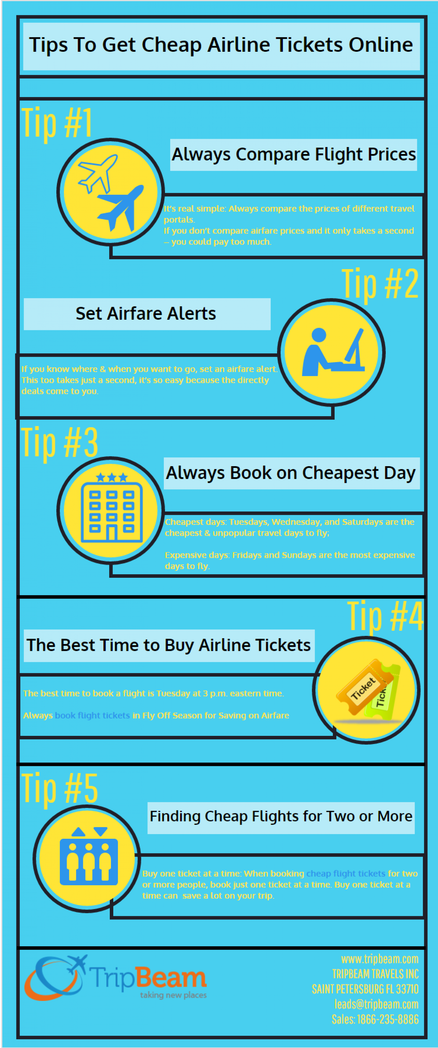 Tips to Get Cheap Airline Tickets Online Infographic