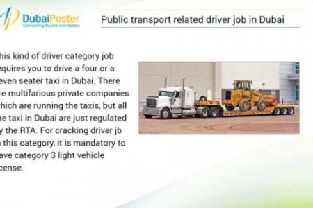 Tips to Get the A Perfect Driving Job in Dubai, UAE  Infographic