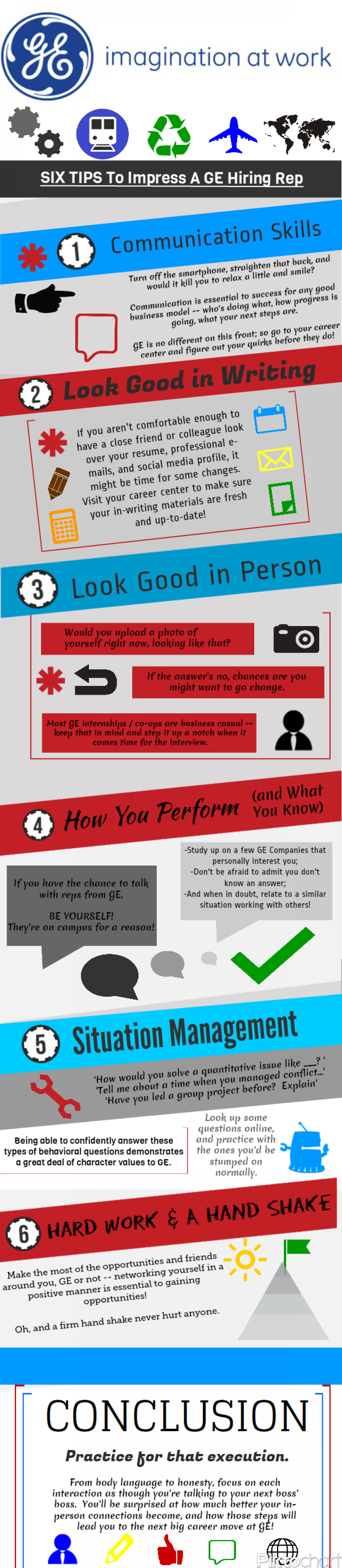 Tips To Impress A Hiring Rep Infographic