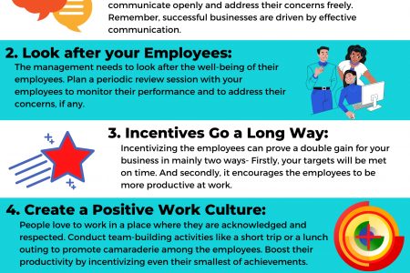 Tips To Increase Employee Productivity Infographic