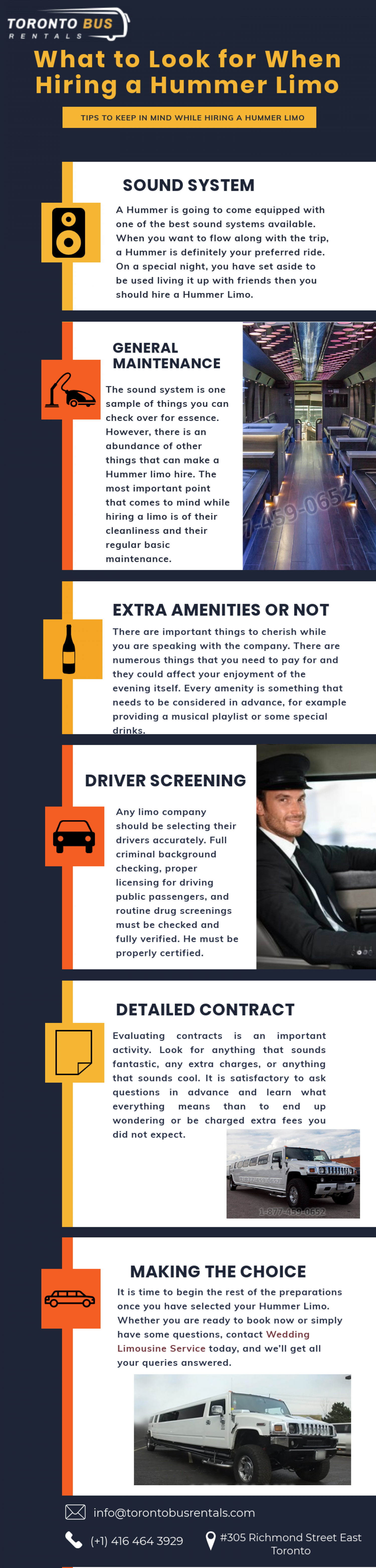 Tips to Keep in mind while Hiring a Hummer Limo Infographic
