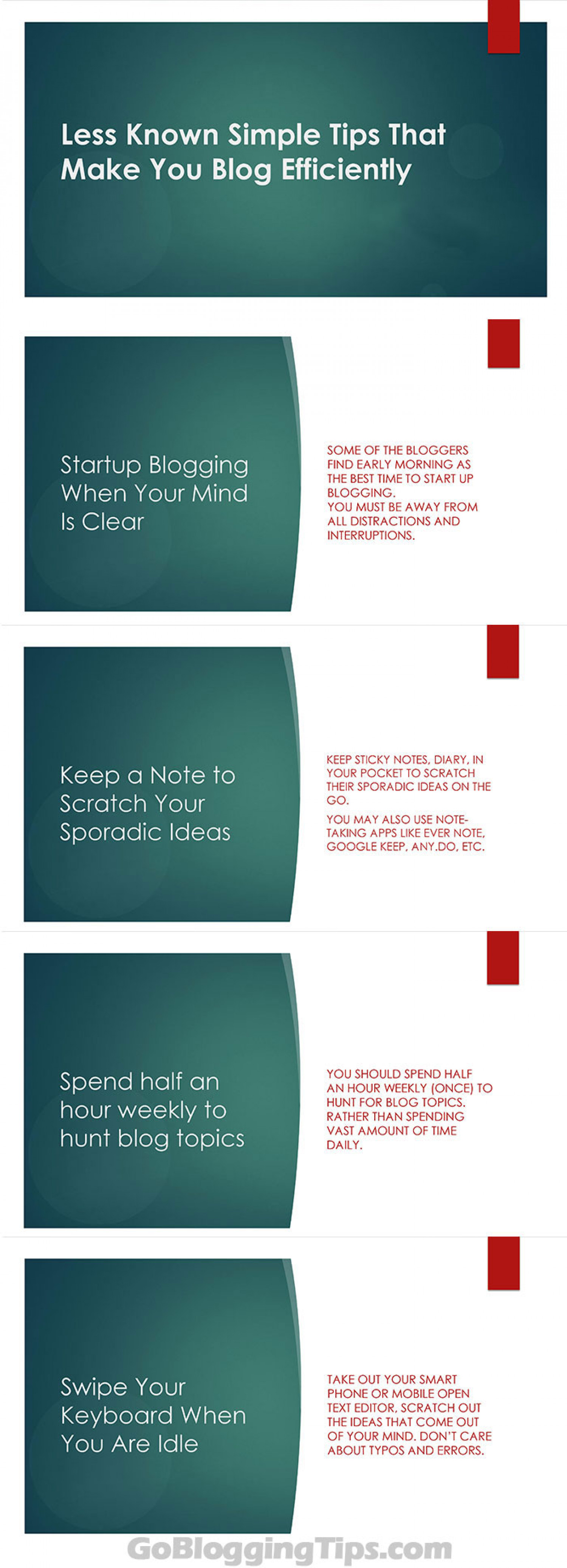 Tips to Make Your Blogging Effective Infographic