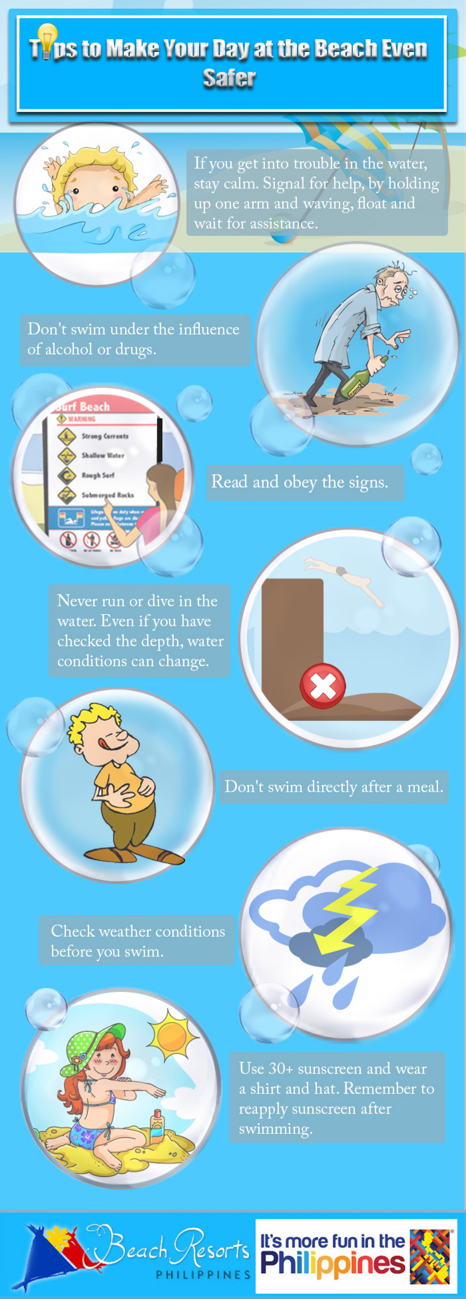 Tips To Make Your Day At The Beach Even Safer Infographic