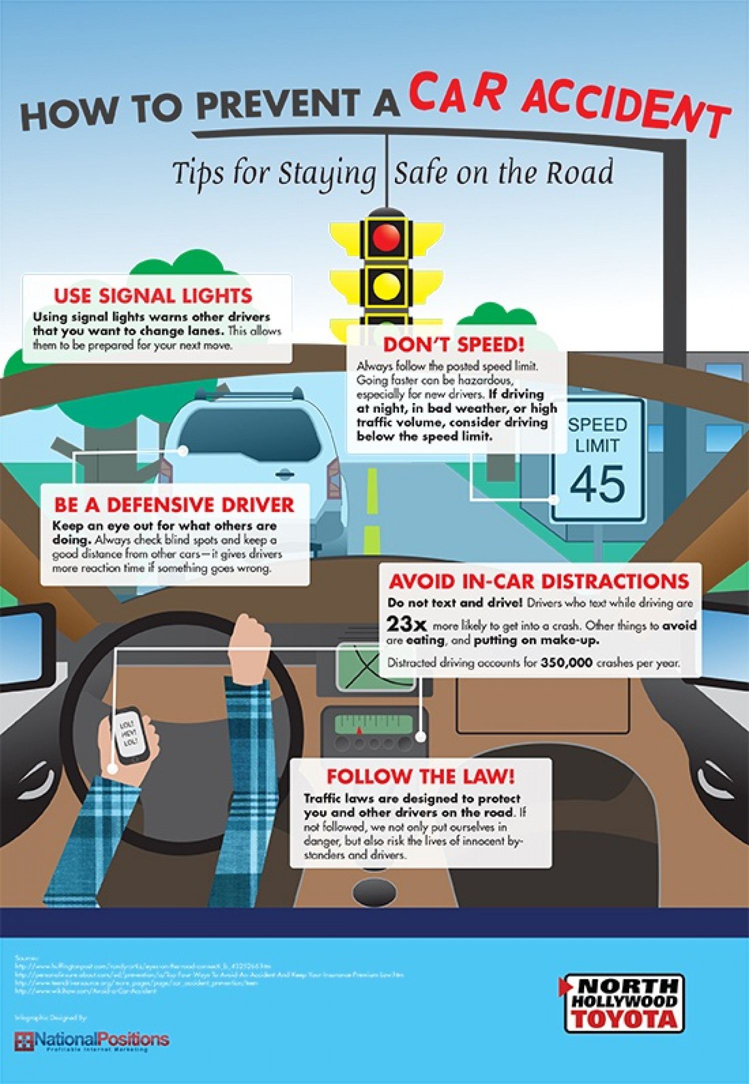 Tips to Prevent a Car Accident Infographic