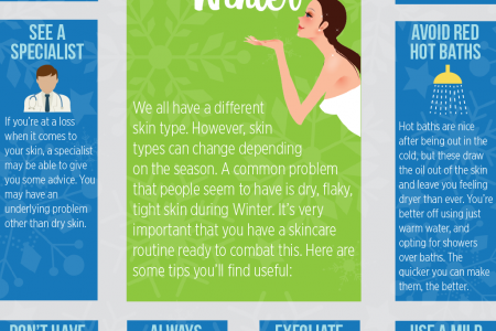 Tips To Prevent Dry Skin During The Winter Infographic