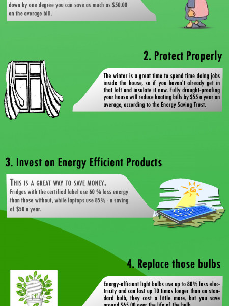 Tips to Save Electricity & Gas Utility Bills Infographic