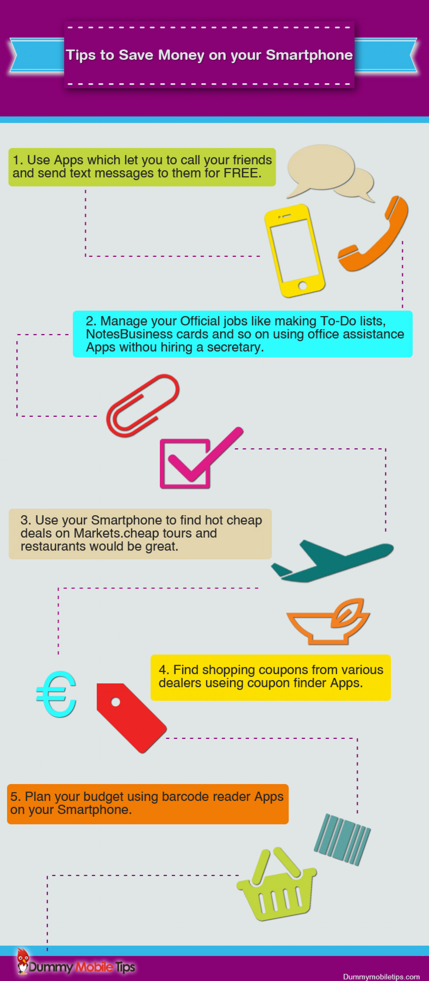 Tips to save money on your Smartphone Infographic
