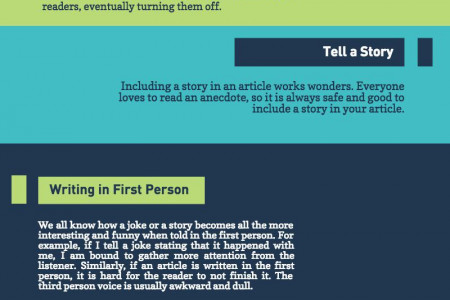 Tips to write powerful article Infographic