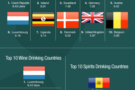 Top 10 Alcohol Counsuming Countries Infographic