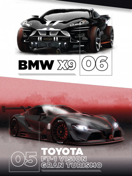 Top 10 Concept Cars Infographic