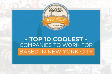 Top 10 Coolest Companies to Work for Based in New York City Infographic
