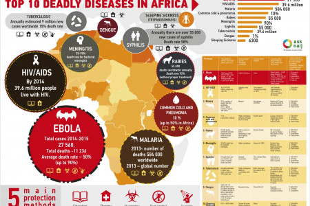 TOP 10 Deadly diseases in Africa Infographic