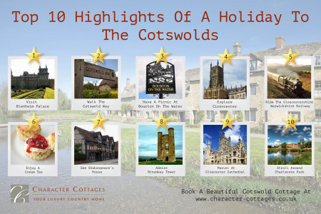 Top 10 Highlights of a Trip to the Cotswolds Infographic