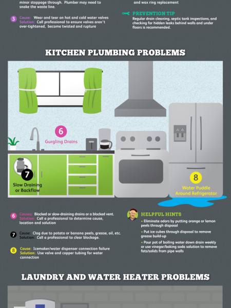 Top 10 Home Plumbing Problems Infographic