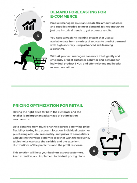 Top 10 Machine Learning Solutions For Retail & E-commerce Infographic
