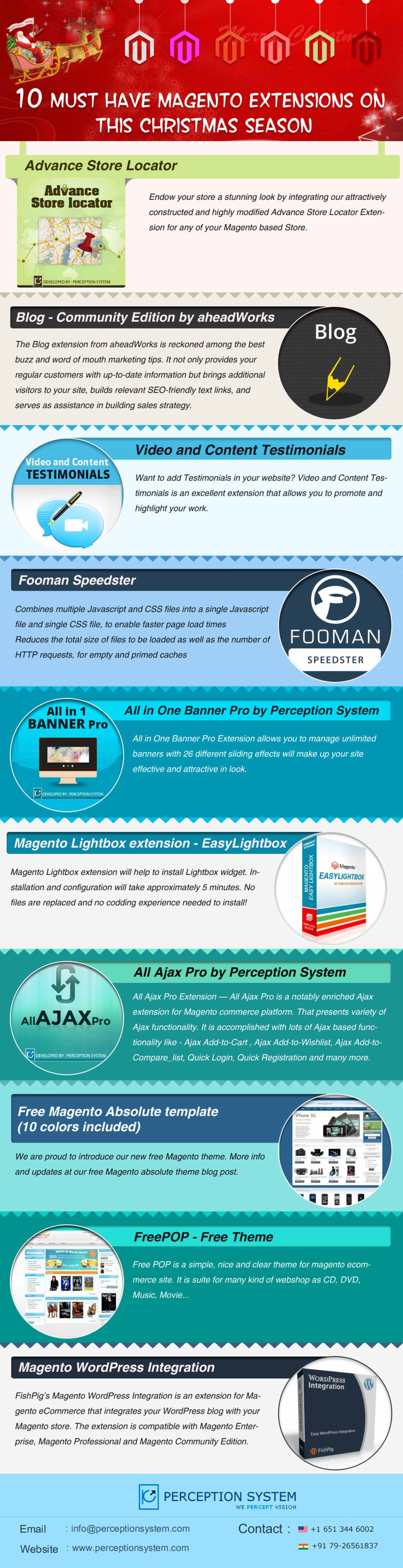 Top 10 Magento Extensions to Must Download On this Christmas Season Infographic