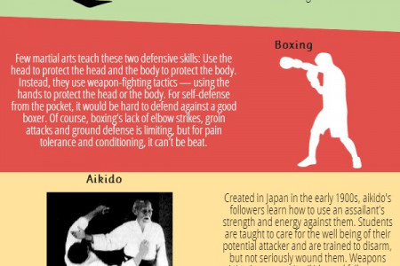 Top 10 Martial Arts For Self-Defence Infographic
