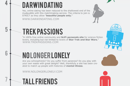 Top 10 Most Bizarre Dating Websites Infographic