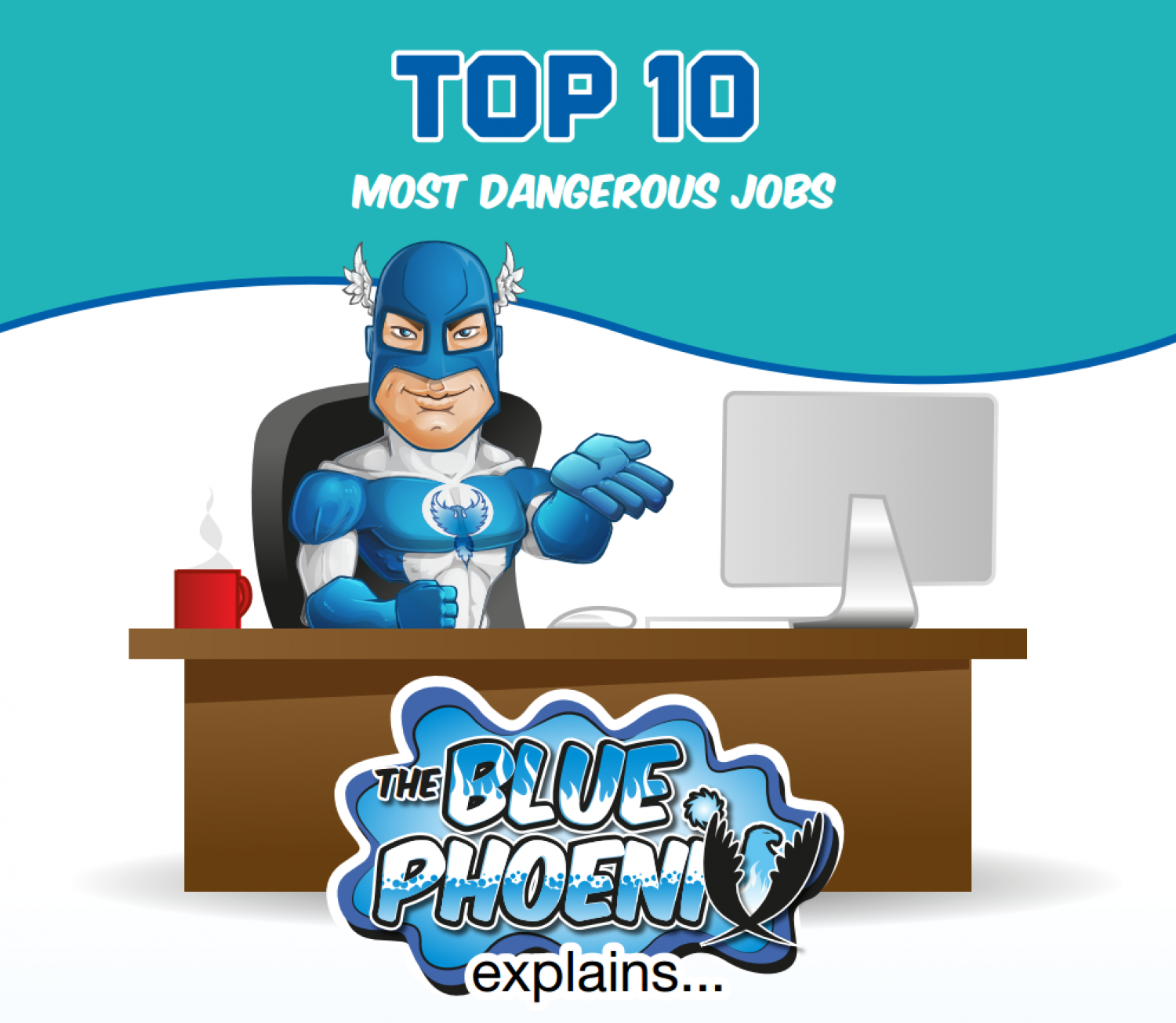 Top 10 Most Dangerous Jobs Infographic