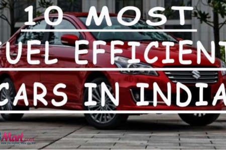 Top 10 Most fuel efficient cars in India Infographic