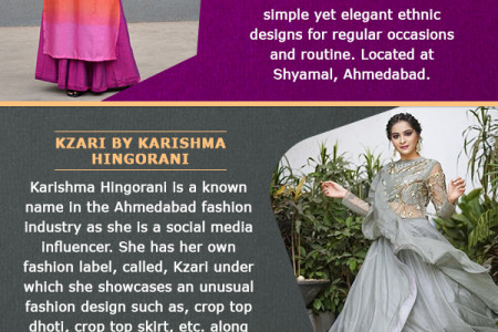 Top 10 Must Visit Designer Stores in Ahmedabad Infographic