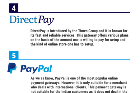 Top 10 Online Payment Gateways For India Infographic