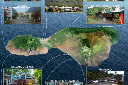 Top 10 Places to Buy Souvenirs on Maui Infographic