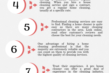 Top 10 Reasons to Schedule House Cleaning Services Infographic