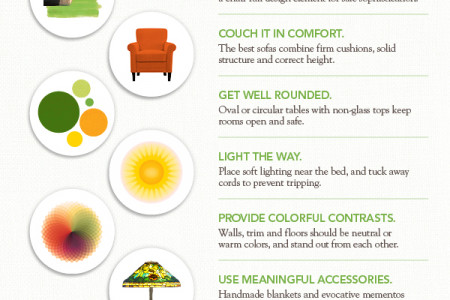 Top 10 Senior Design Tips from HGTV's Emily Henderson Infographic