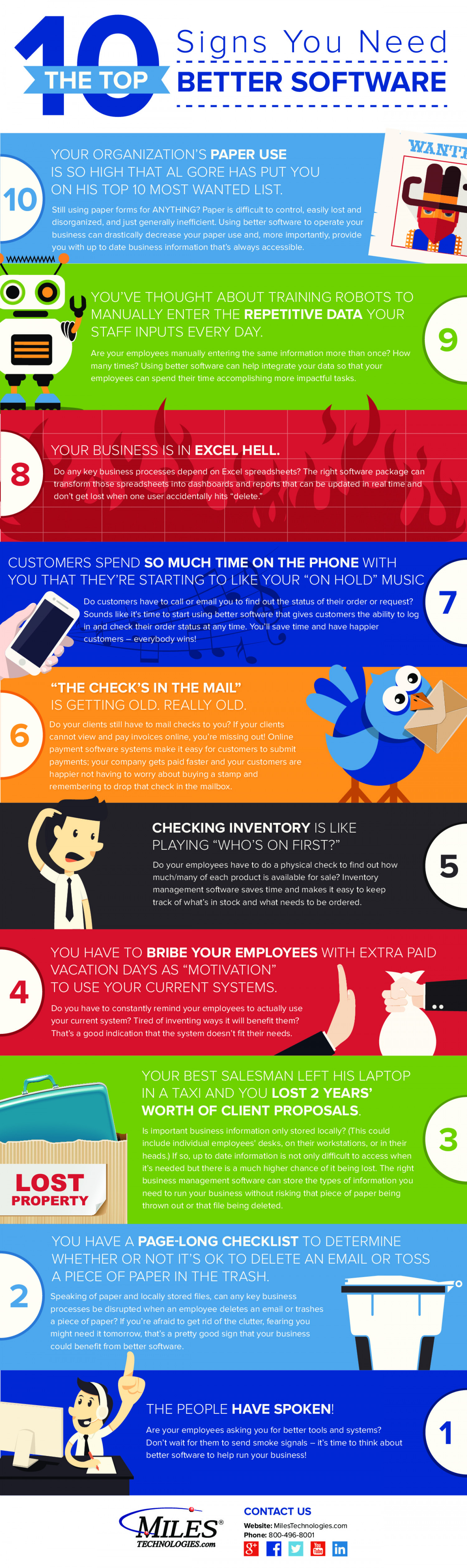 Top 10 Signs You Need Better Software Infographic