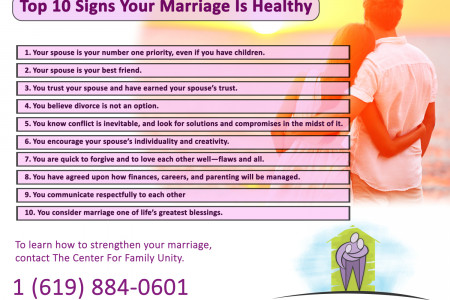 Top 10 Signs Your Marriage Is Healthy Infographic