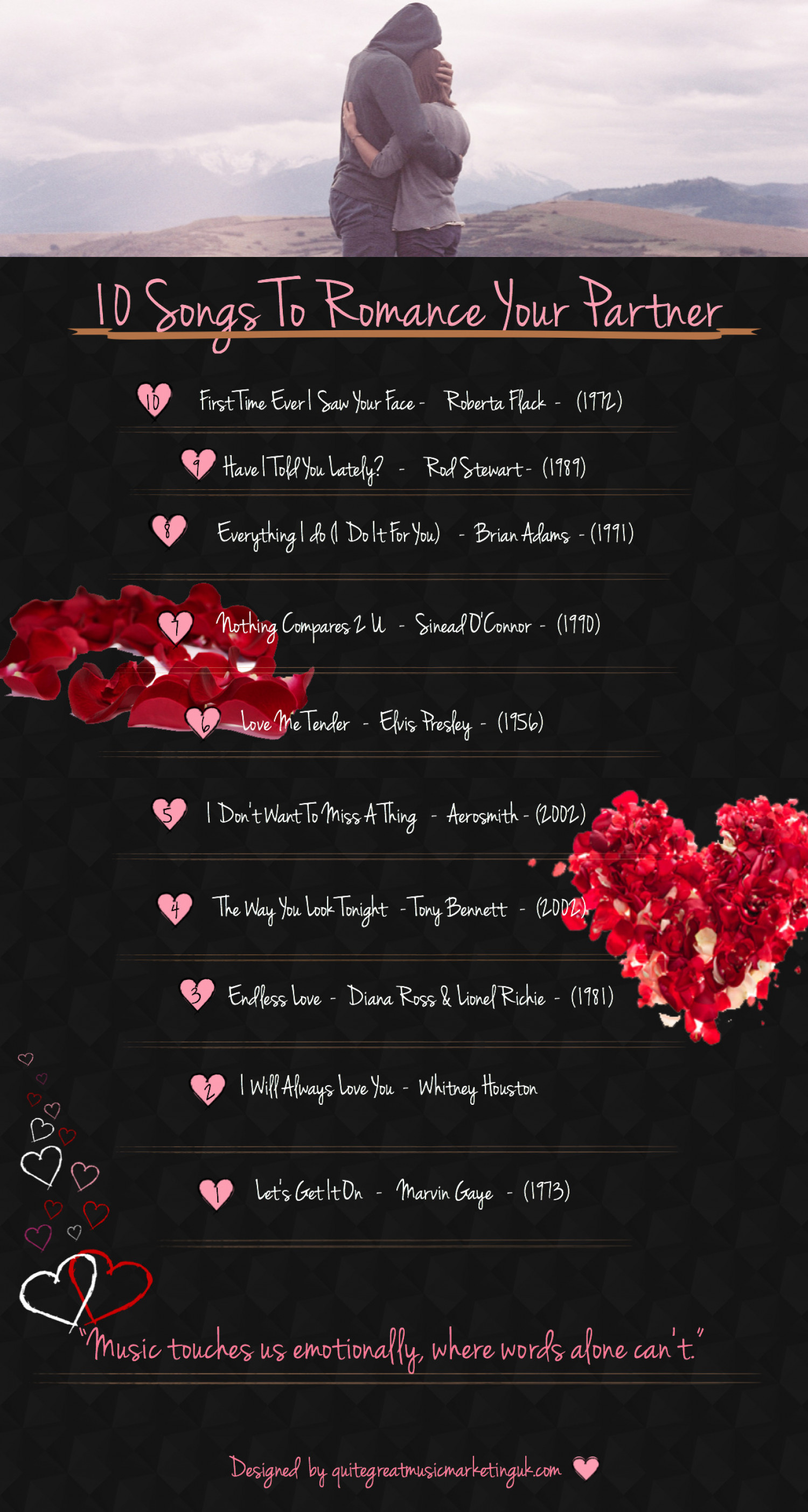 10 Songs To Romance Your Partner Infographic