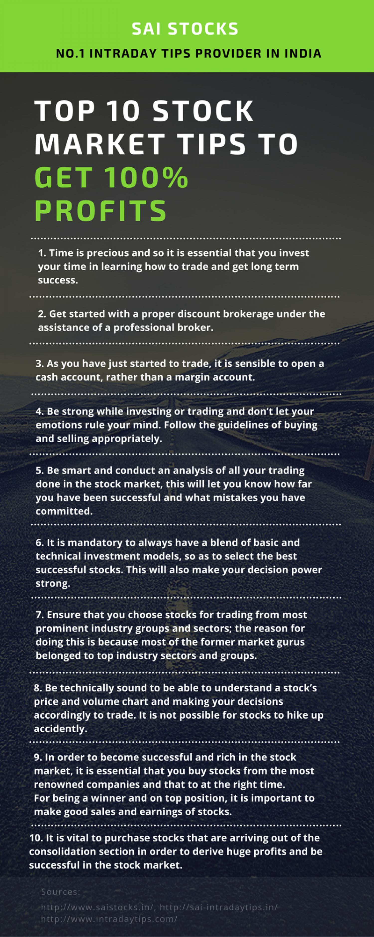 Top 10 Stock Market Tips To Get 100% Profitsgraphic Top 10 Stock Market  Tips To How To Buy