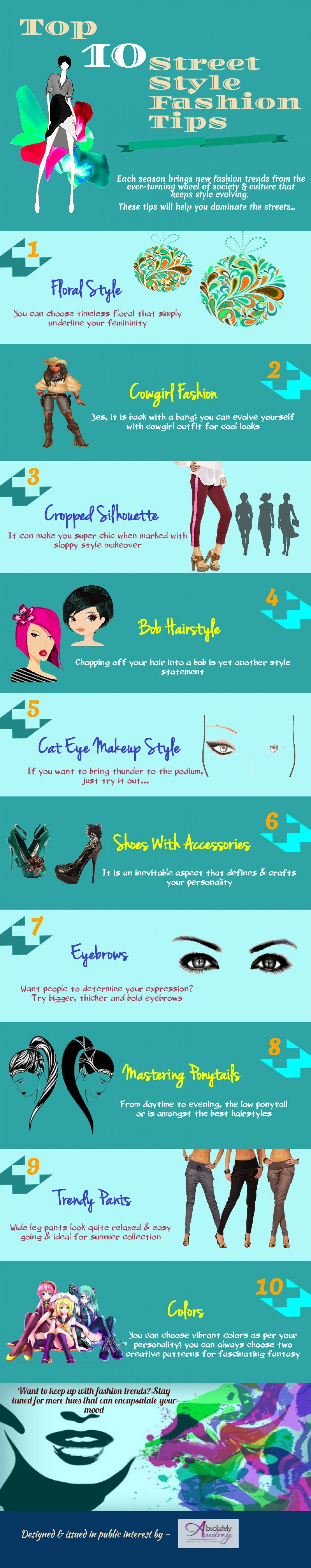 Top 10 Street Style Fashion Tips Infographic