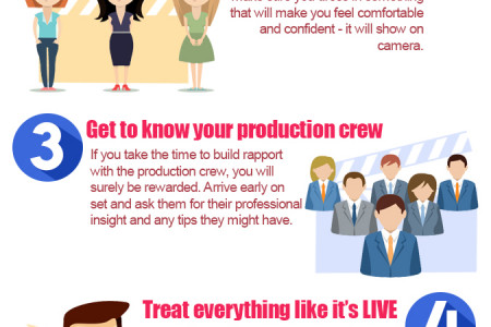 Top 10 Tips for Presenting via Camera Infographic